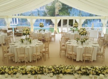 marquee wedding at Tofte Manor by T&L Marquee Hire