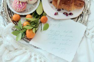 Love note from a groom to his bride