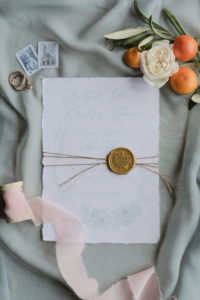 French rustic wedding stationery