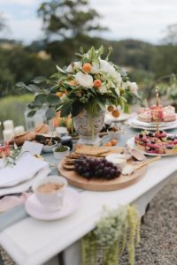 Elegant French Rustic Wedding Breakfast